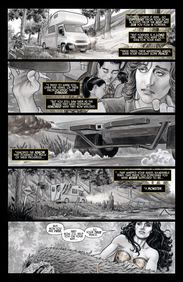 Interior preview page from WONDER WOMAN BLACK & GOLD #4 (OF 6) CVR A TULA LOTAY
