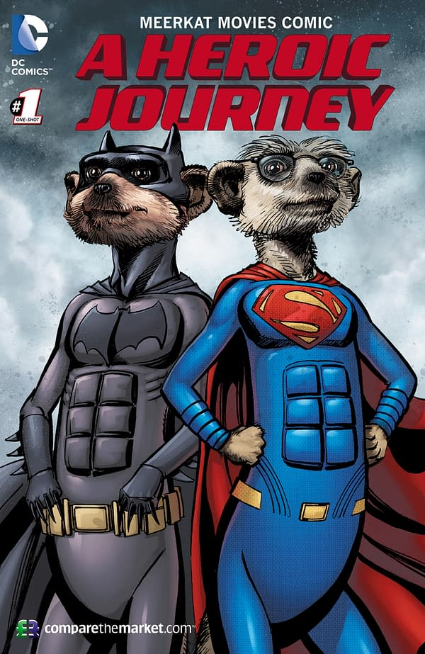 EMBARGO 00.01 13th May: DC Comic book legend Neal Adams illustrates well known meerkats in first brand partnership of its type in UK.