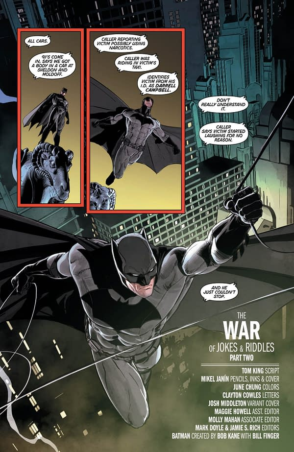 In Today's Batman #26, The Riddler Gets A New Chest Symbol As Gotham Gets Its Own Civil War