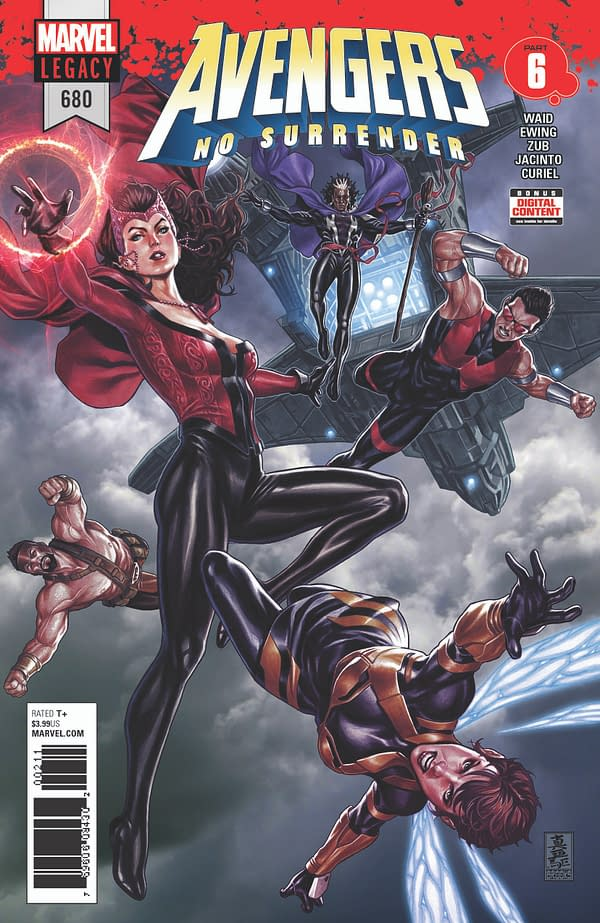 4 Mark Brooks Covers And 3 Pages Of Kim Jacinto Art For Avengers: No Surrender In February