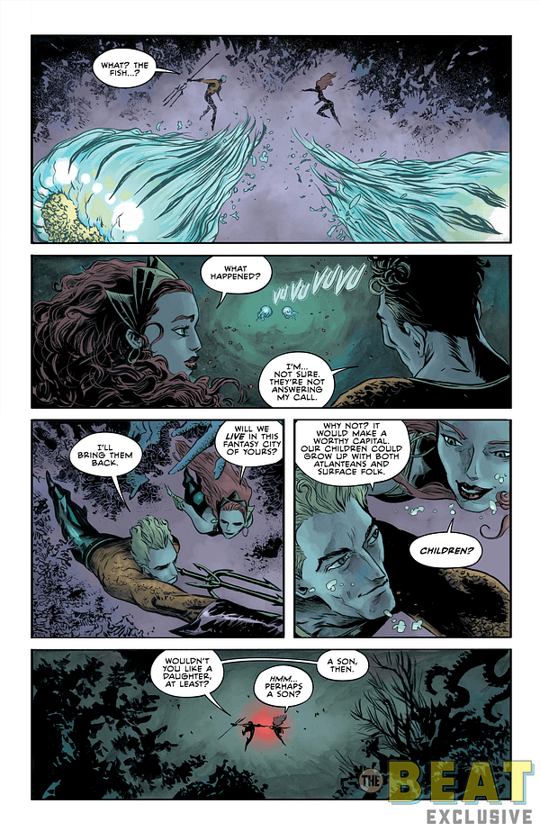 Aquaman's Plans For Atlantis To Be A Superpower To Rival The USA, In Tomorrow's Aquaman Annual
