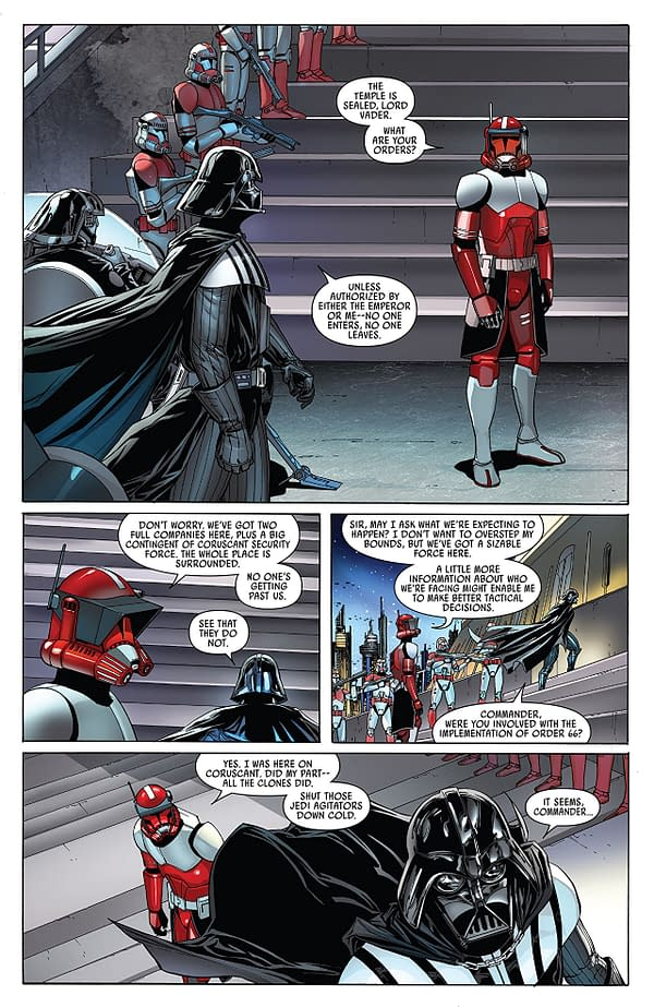 Darth Vader #9 art by Giuseppe Camuncoli, Daniele Orlandini, and David Curiel