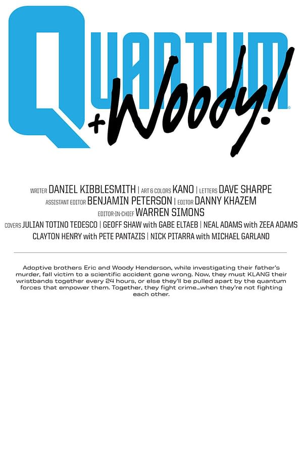 Valiant's Quantum and Woody! #1 Gets a Very, Very Exclusive Second Printing for the CBLDF