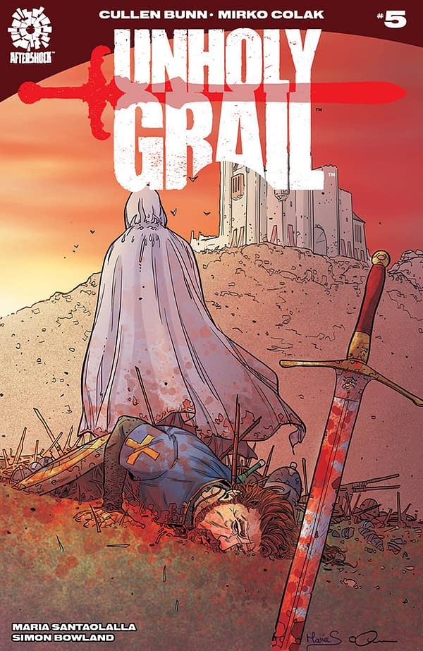 Unholy Grail #5 cover by Mirko Colak and Maria Santaolalla