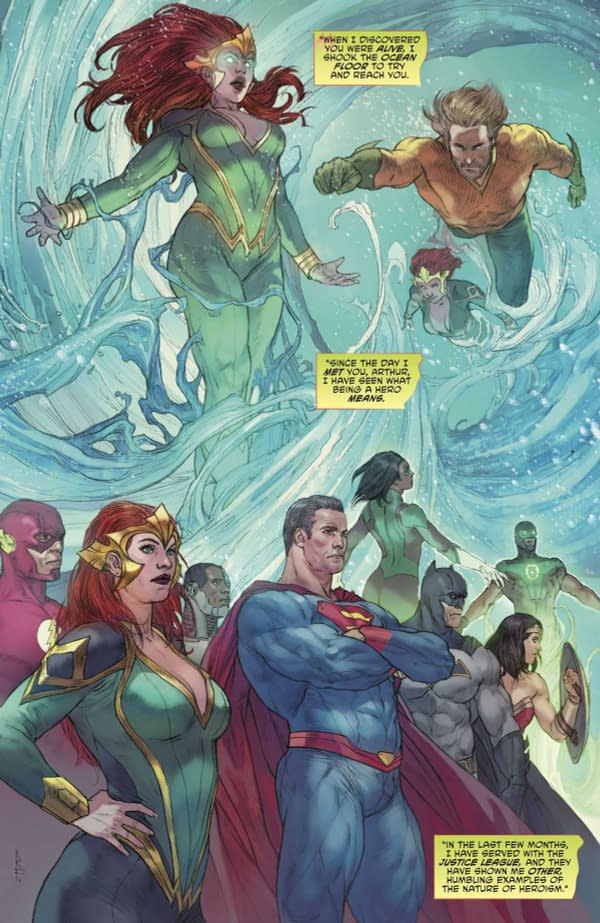 Aquaman #32 art by Riccardo Federici and Sunny Gho