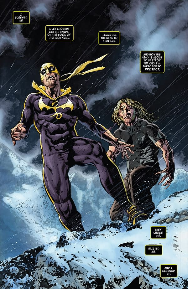 Iron Fist #76 art by Mike Perkins and Andy Troy