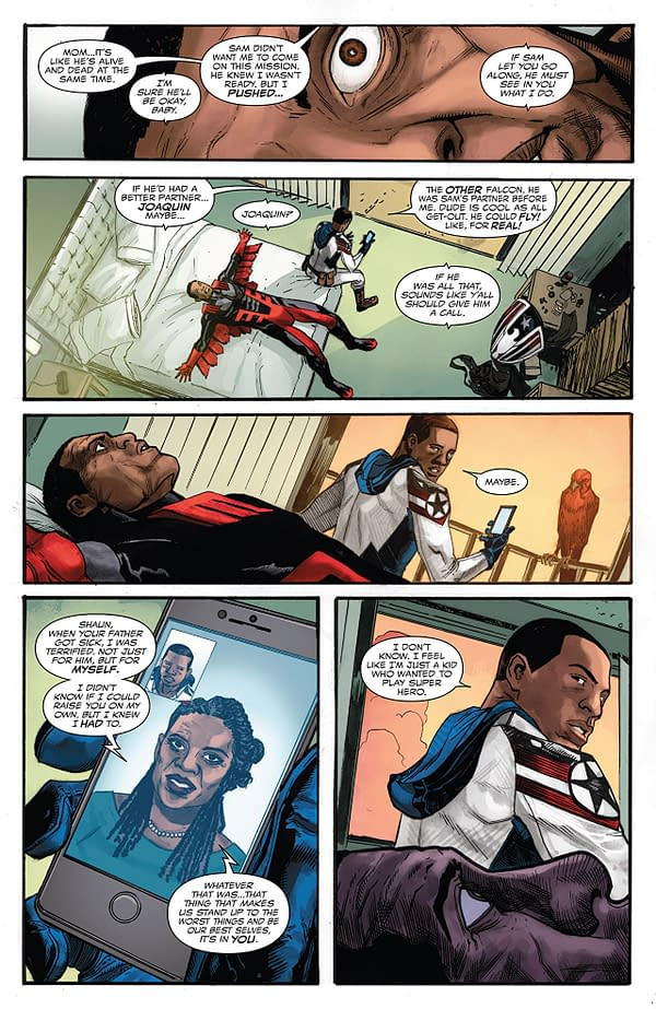 Falcon #4 art by Joshua Cassara and Rachelle Rosenberg