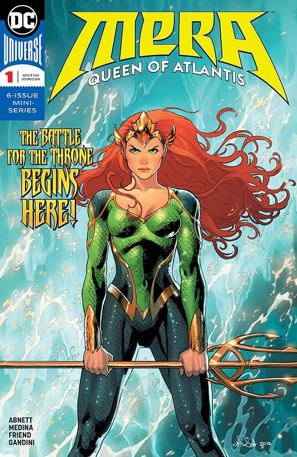 Mera: Queen of Atlantis #1 cover by Nicola Scott and Romulo Fajardo Jr.