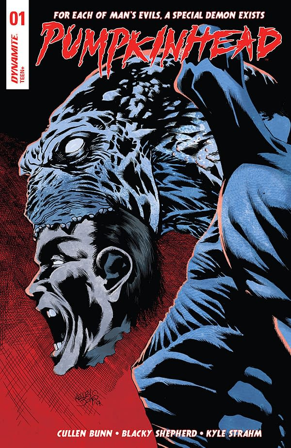 Pumpkinhead #1 cover by Kelley Jones