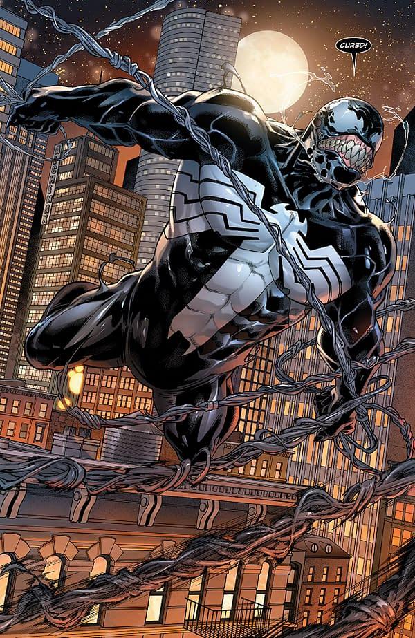 Venom #161 art by Javier Garron, Dono Sanchez-Almara, and Erick Arciniega