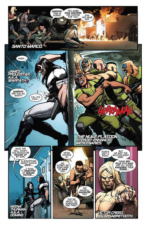 Weapon X #14 art by Yildiray Cinar and Frank D'Armata