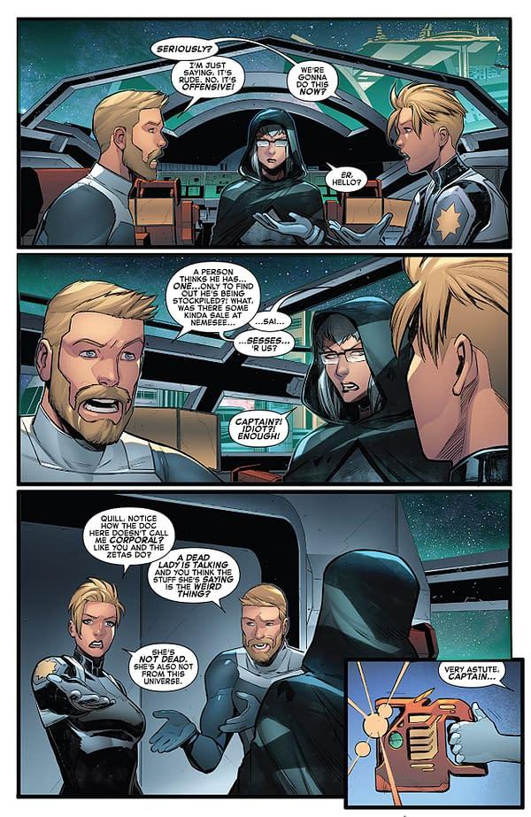 Captain Marvel #129 art by Michele Bandini and Erick Arciniega