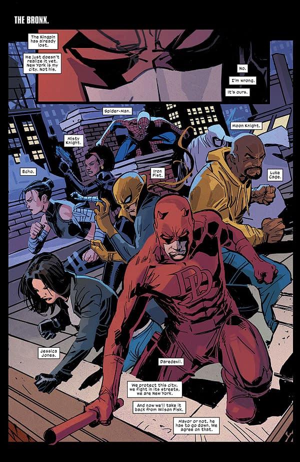 Daredevil #600 art by Ron Garney and Matt Milla