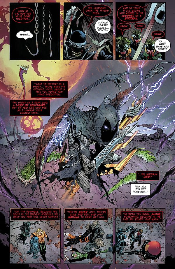 Dark Nights: Metal #6 art by Greg Capullo, Jonathan Glapion, and FCO Plascencia
