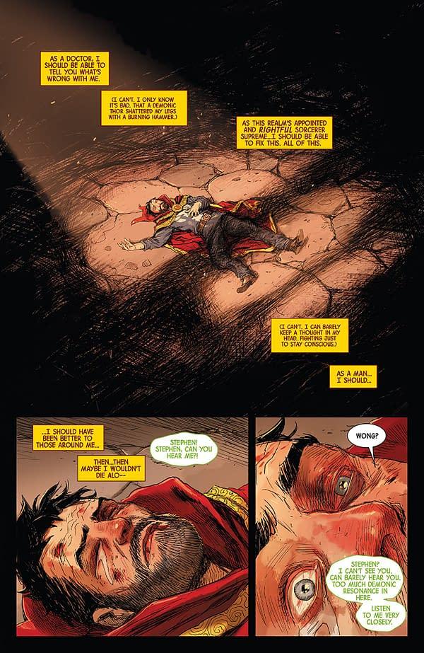 Doctor Strange #387 art by Niko Henrichon with Laurent Grossat