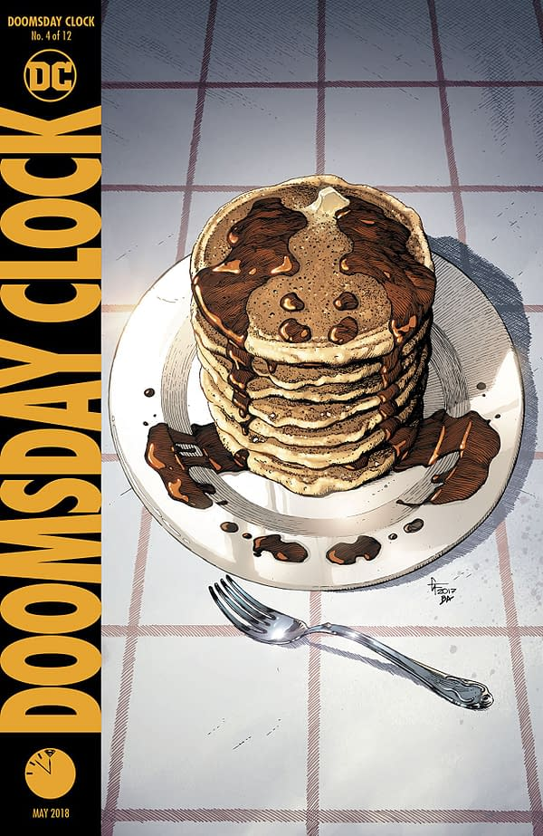 Doomsday Clock #4 cover by Gary Frank and Brad Anderson
