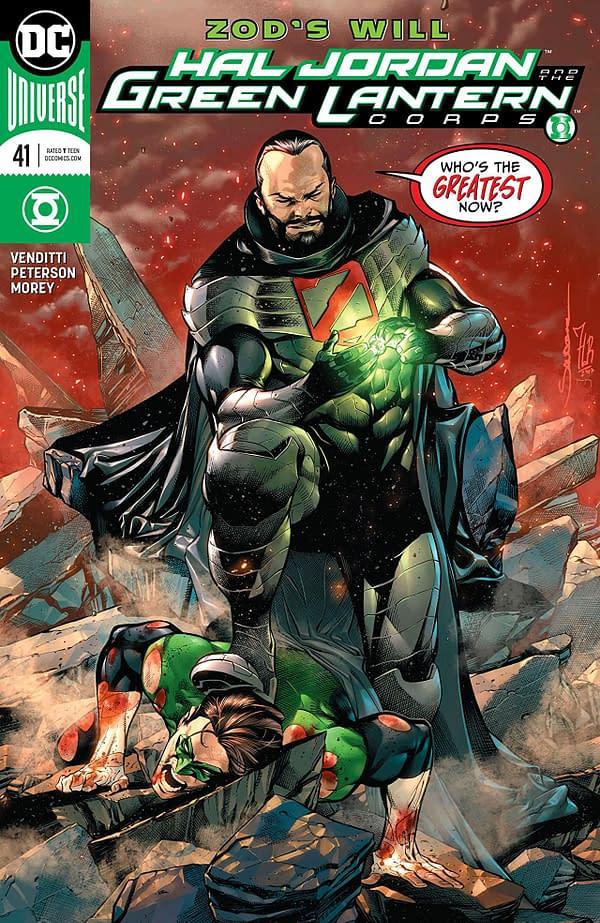 Hal Jordan and the Green Lantern Corps #41 cover by Rafa Sandoval, Jordi Tarragona, and Tomeu Morey