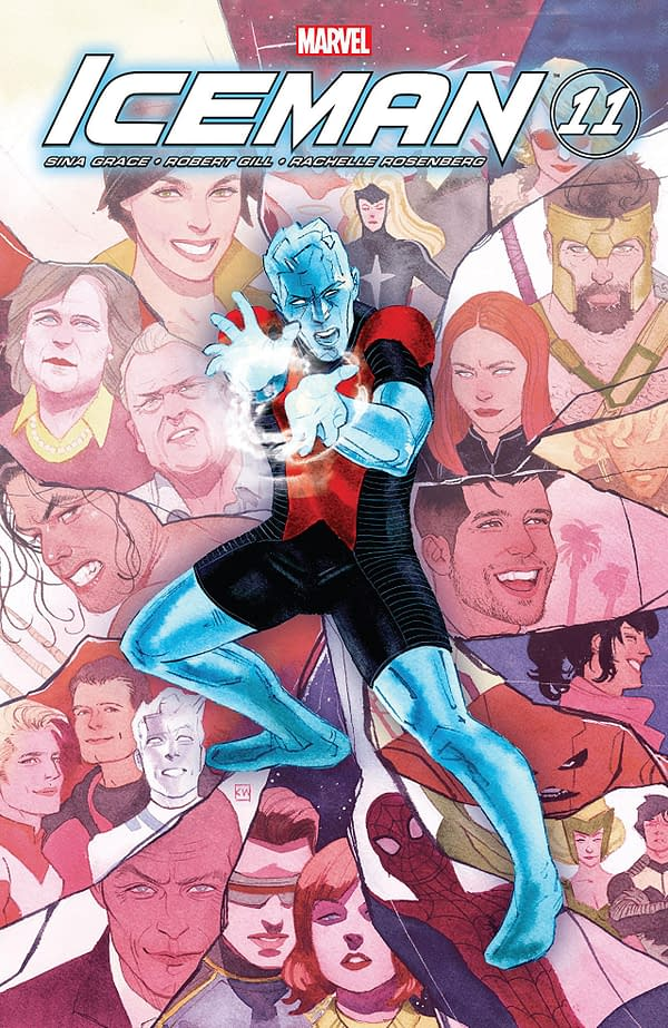 Iceman #11 Cover by Kevin Wada