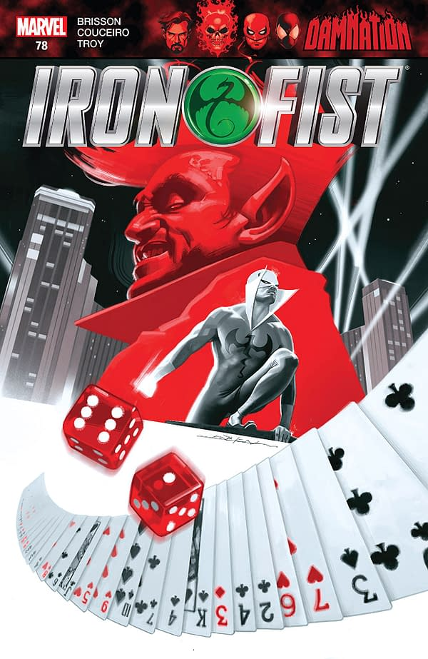 Iron Fist #78 cover by Jeff Dekal
