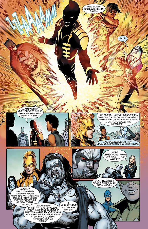 Justice League of America #25 art by Miguel Mendonca, Minkyu Jung, Dexter Vines, and Chris Sotomayor