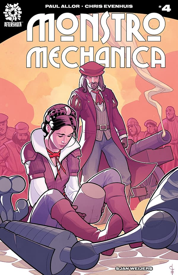 Monstro Mechanica #4 cover by Chris Evenhuis
