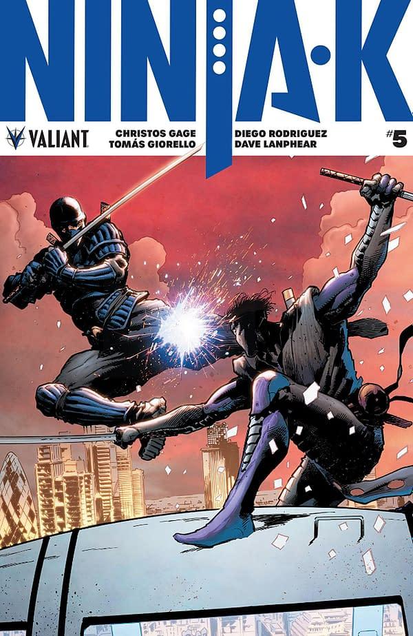 Ninja-K #5 cover by Trevor Hairsine