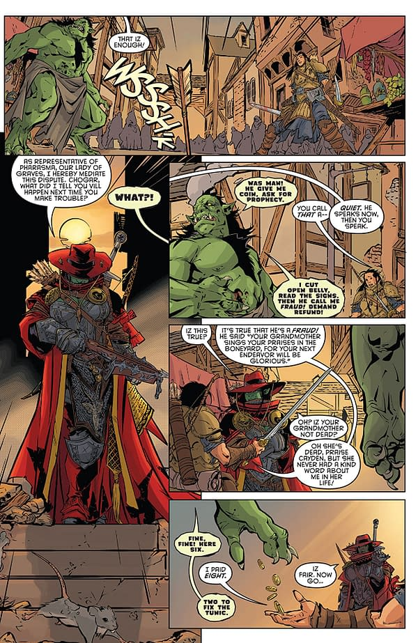 Pathfinder: Spiral of Bones #1 art by Tom Garcia and Morgan Hickman