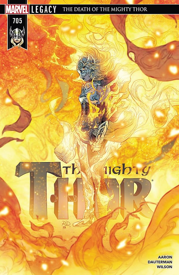 Mighty Thor #705 cover by Russell Dauterman