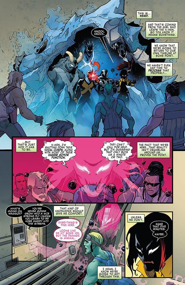 X-Men: Blue #22 art by Jacopo Camagni and Matt Milla