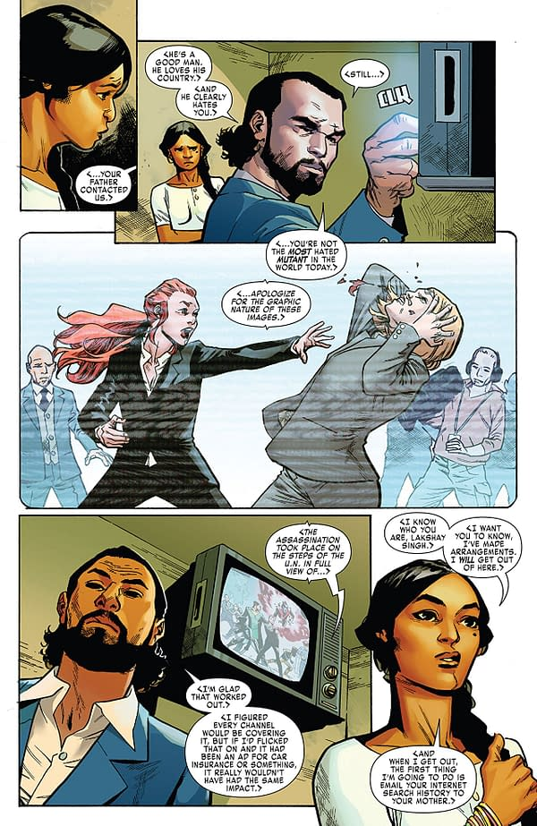 X-Men: Red #2 art by Mahmud Asrar and Ive Svorcina