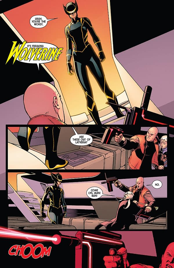 All-New Wolverine #33 art by Ramon Rosanas and Nolan Woodard