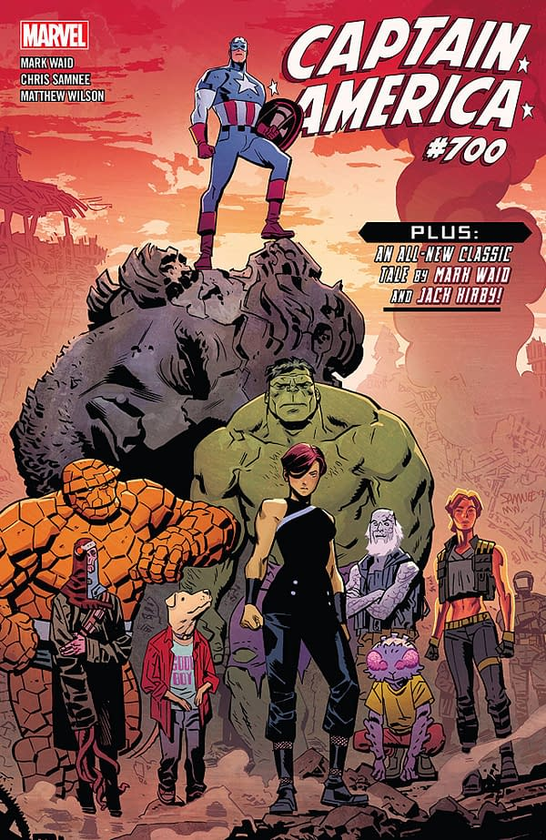 Captain America #700 cover by Chris Samnee and Matthew Wilson