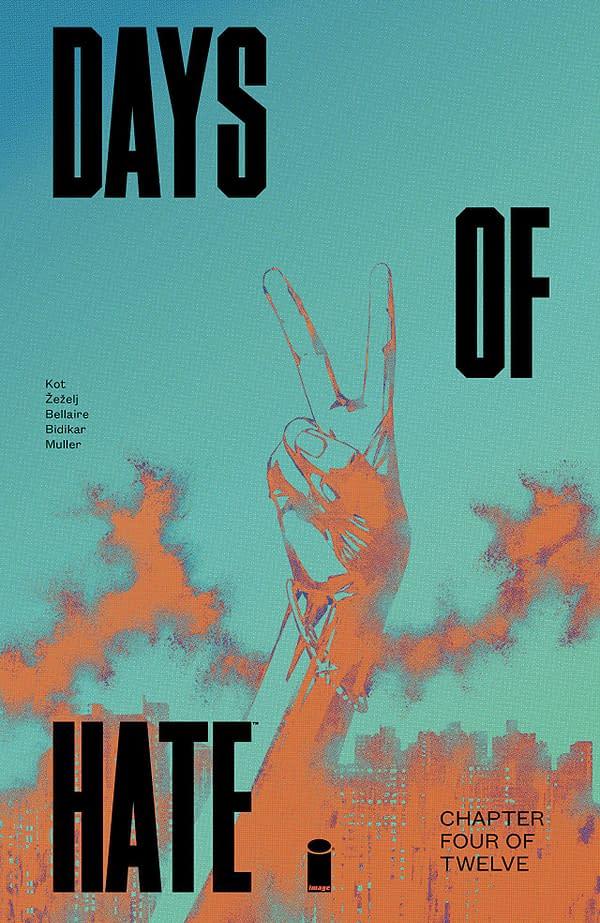 Days of Hate #4 cover by Danijel Zezelj