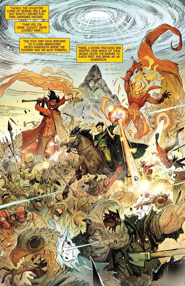 Doctor Strange #389 art by Niko Henrichon and Lauren Grossat