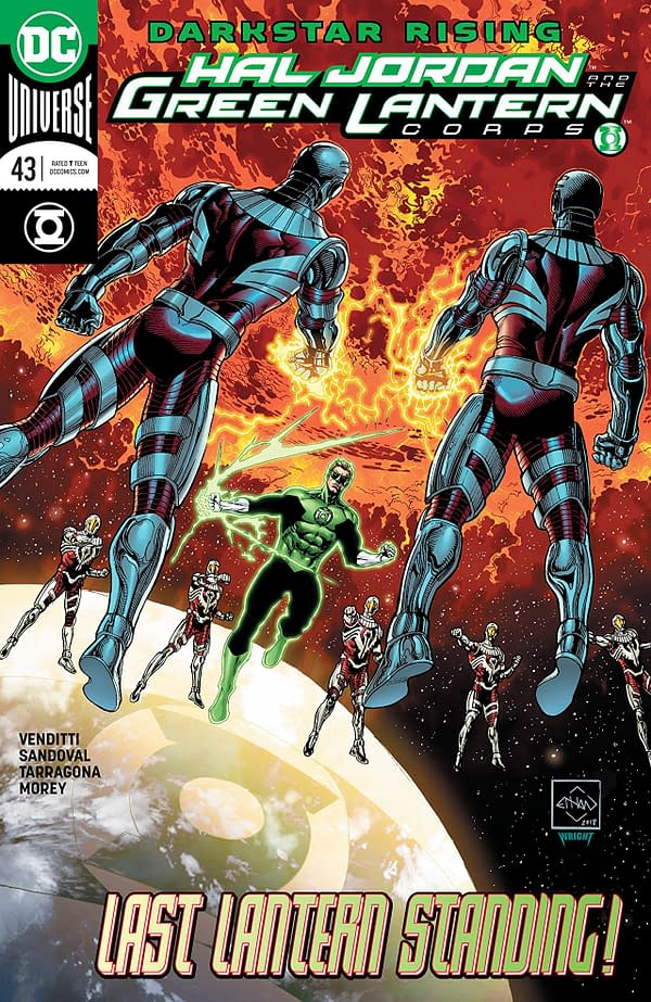 Hal Jordan and the Green Lantern Corps #43 cover by Ethan van Sciver and Jason Wright