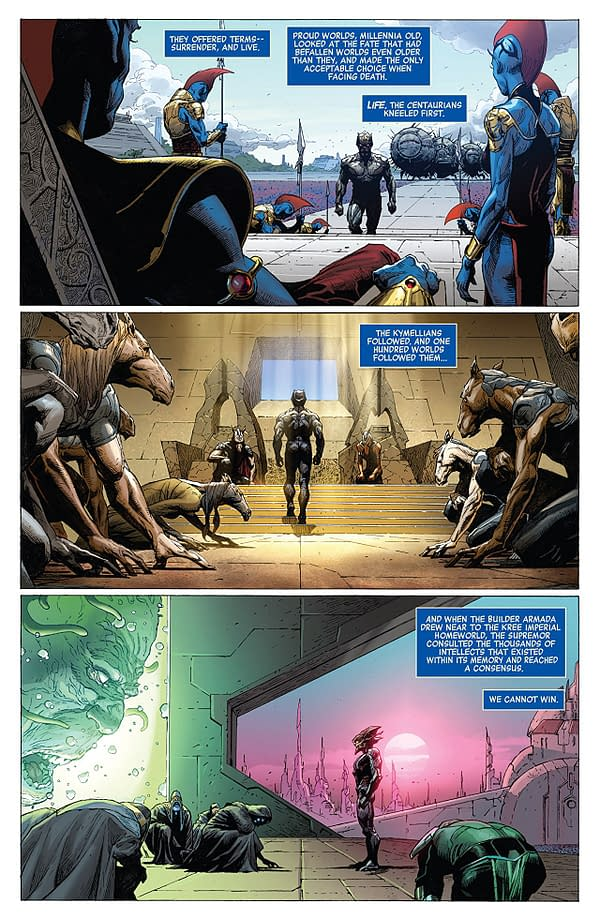 Infinity #3 art by Jerome Opena, Dustin Weaver, and Justin Ponsor