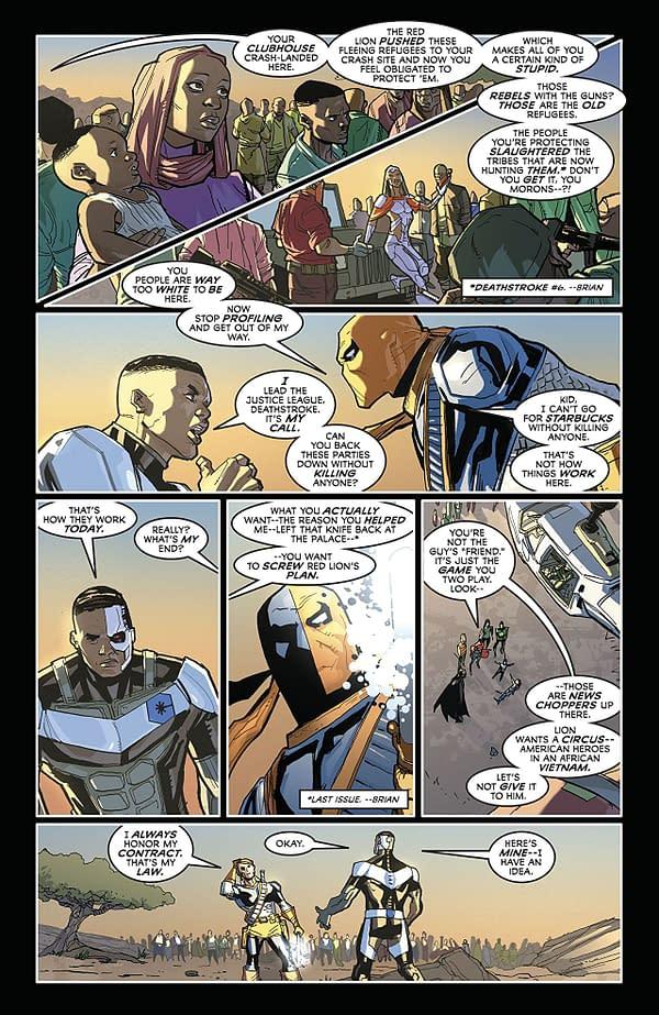 Justice League #43 art by Pete Woods