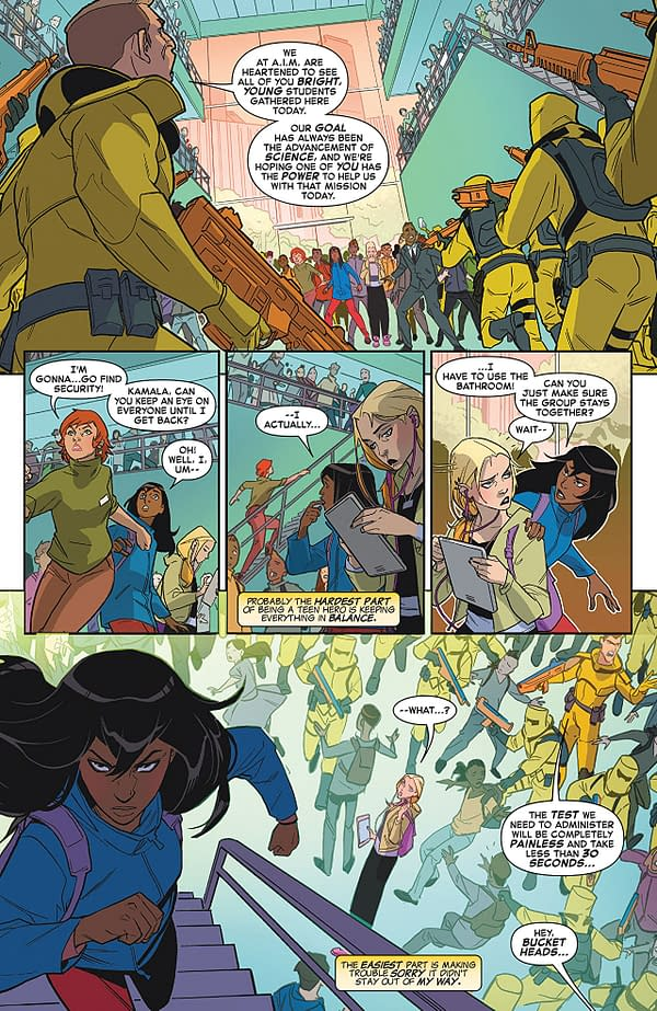 Marvel Rising #0 art by Marco Failla and Rachelle Rosenberg