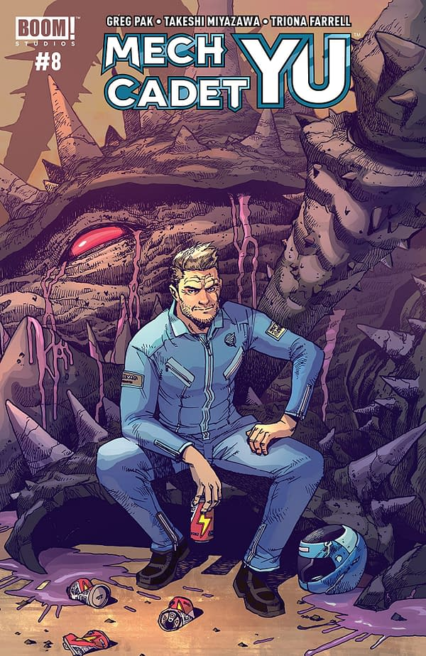 Mech Cadet Yu #8 cover by Takeshi Miyazawa and Raul Angulo