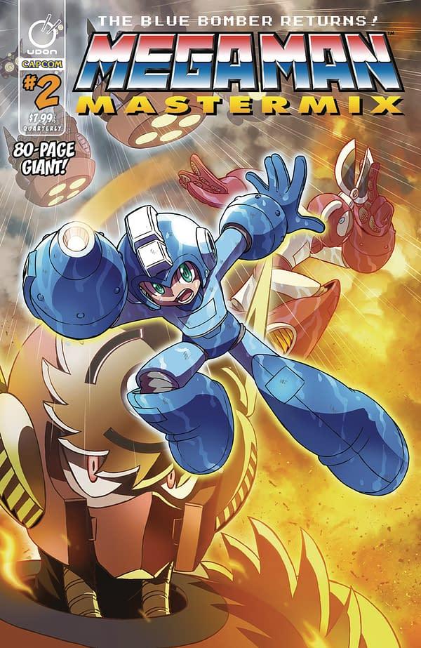 Mega Man Mastermix #2 cover by Hitoshi Ariga