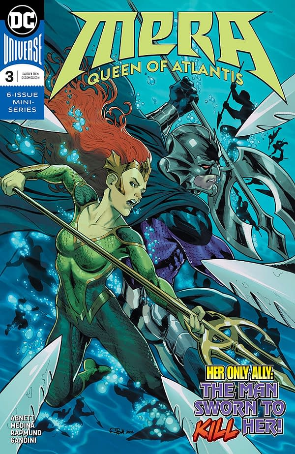 Mera: Queen of Atlantis #3 cover by Nicola Scott and Romulo Fajardo Jr.