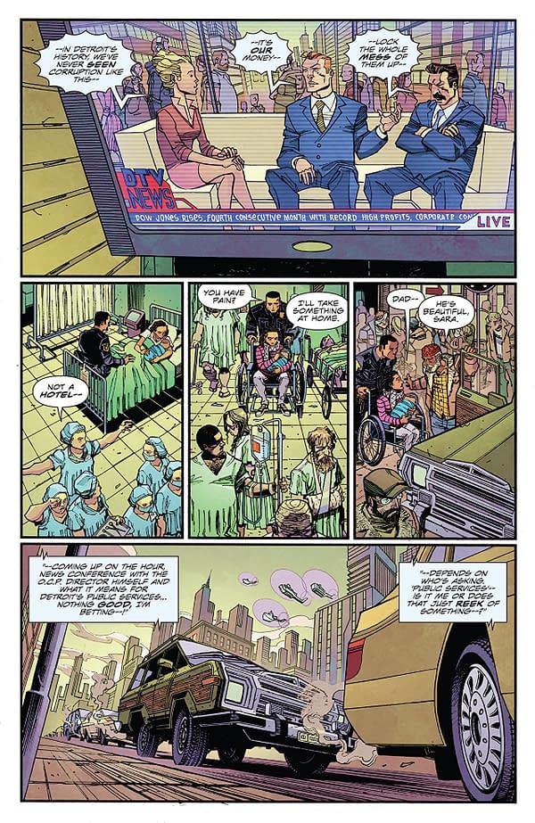 Robocop: Citizen's Arrest #1 art by Jorge Coelho and Doug Garback