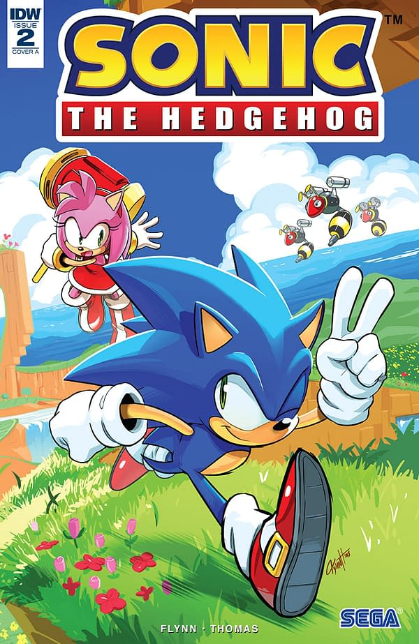Sonic the Hedgehog #2 cover by Tyson Hesse