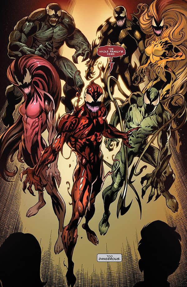 Venom #164 art by Mark Bagley, Scott Hanna, and Dono Sanchez-Almara