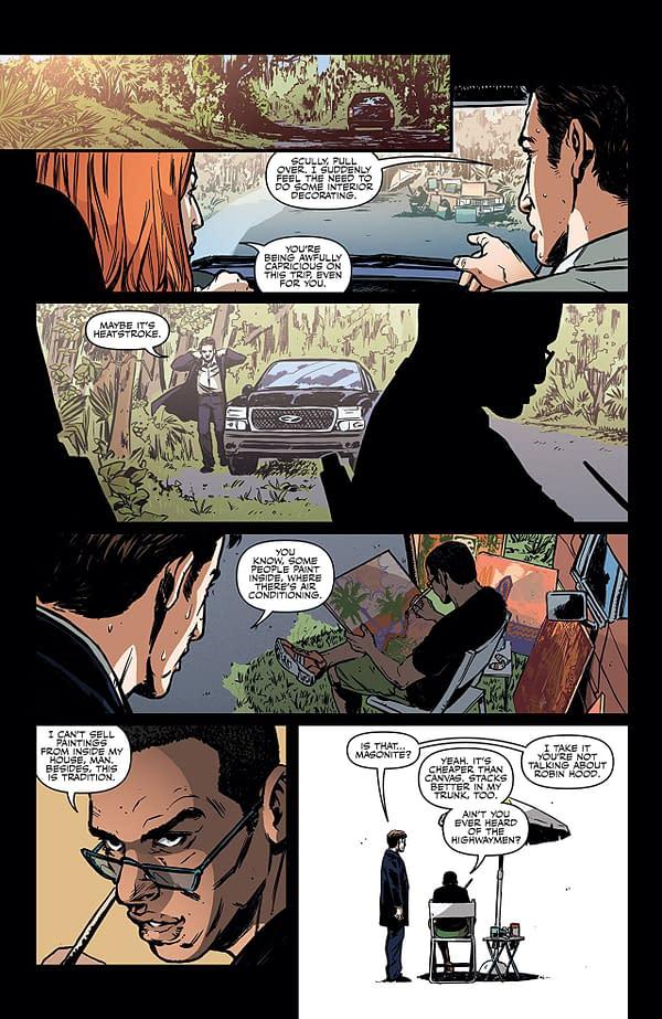 X-Files Case Files: Florida Man #1 art by Elena Casagrande, Silvia Califano, and Arianna Florean