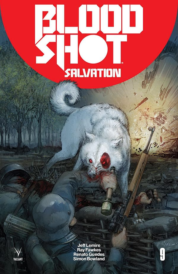 Bloodshot Salvation #9 cover by Kenneth Rocafort