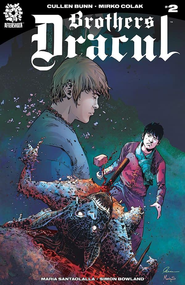 Brothers Dracul #2 cover by Mirko Colak and Maria Santaolalla
