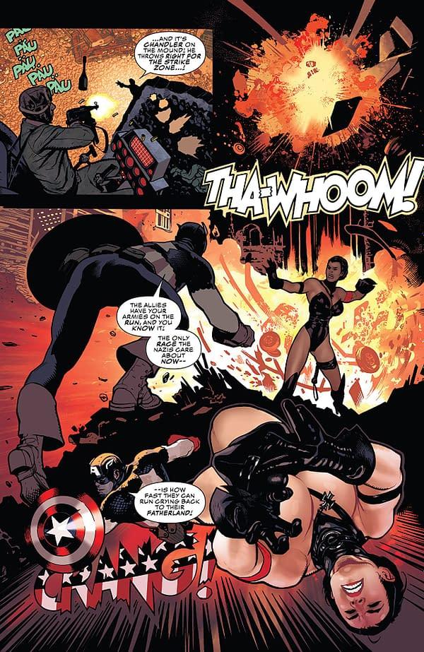 Captain America #701 art by Adam Hughes