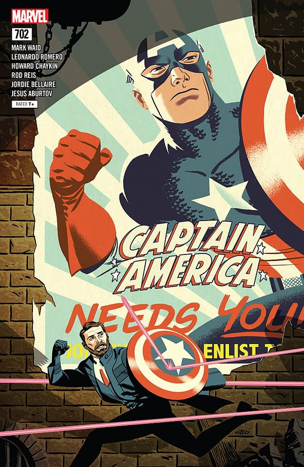 Captain America #702 cover by Michael Cho