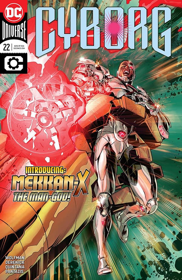 Cyborg #22 cover by Will Conrad and Ivan Nunes